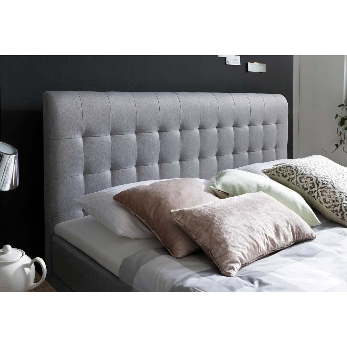 meise m bel massello boxspringbett hellgrau mit lieferung. Black Bedroom Furniture Sets. Home Design Ideas