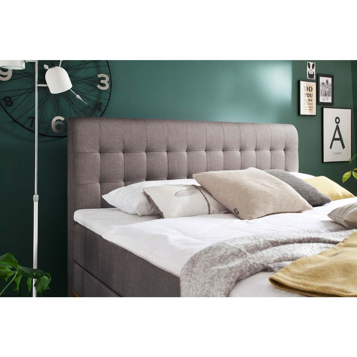 meise m bel massello boxspringbett taupe mit lieferung. Black Bedroom Furniture Sets. Home Design Ideas