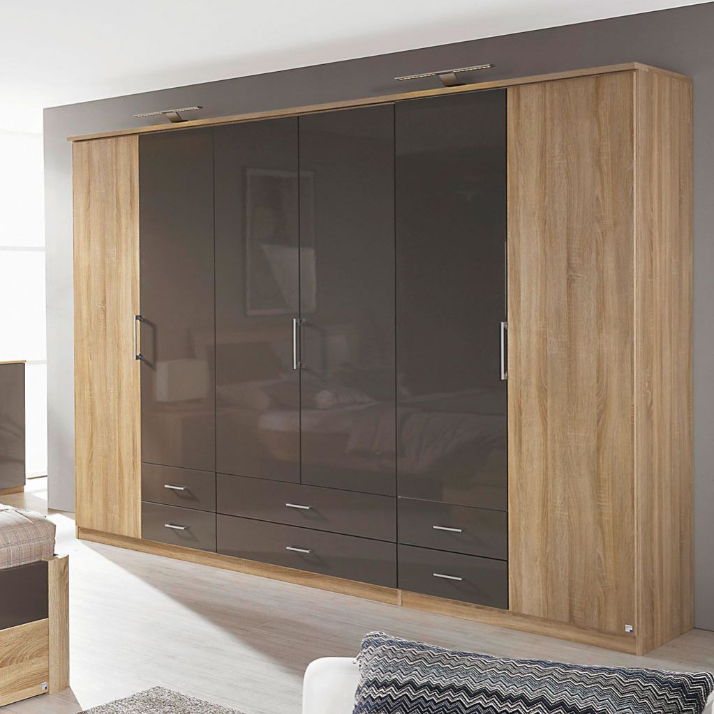 rauch arona faltt renschrank 271 cm eiche sonoma lavagrau. Black Bedroom Furniture Sets. Home Design Ideas