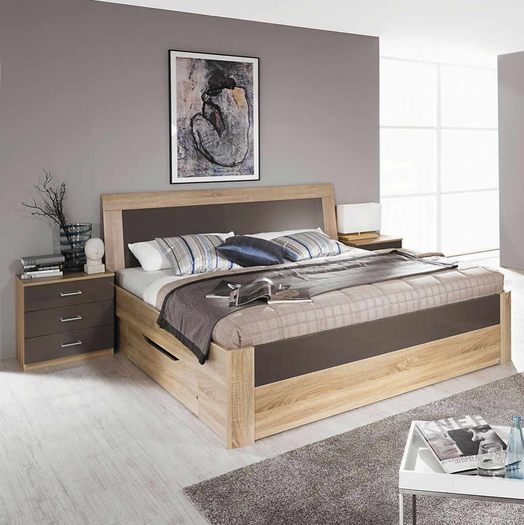 rauch arona komfortbett eiche sonoma lavagrau. Black Bedroom Furniture Sets. Home Design Ideas