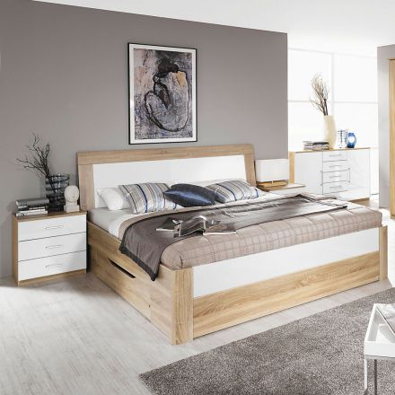 rauch tarragona bettanlage grau eiche sanremo hell. Black Bedroom Furniture Sets. Home Design Ideas