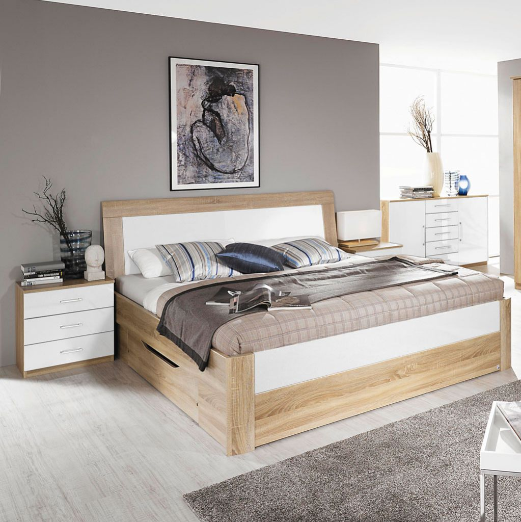 rauch arona komfortbett eiche sonoma alpinwei. Black Bedroom Furniture Sets. Home Design Ideas