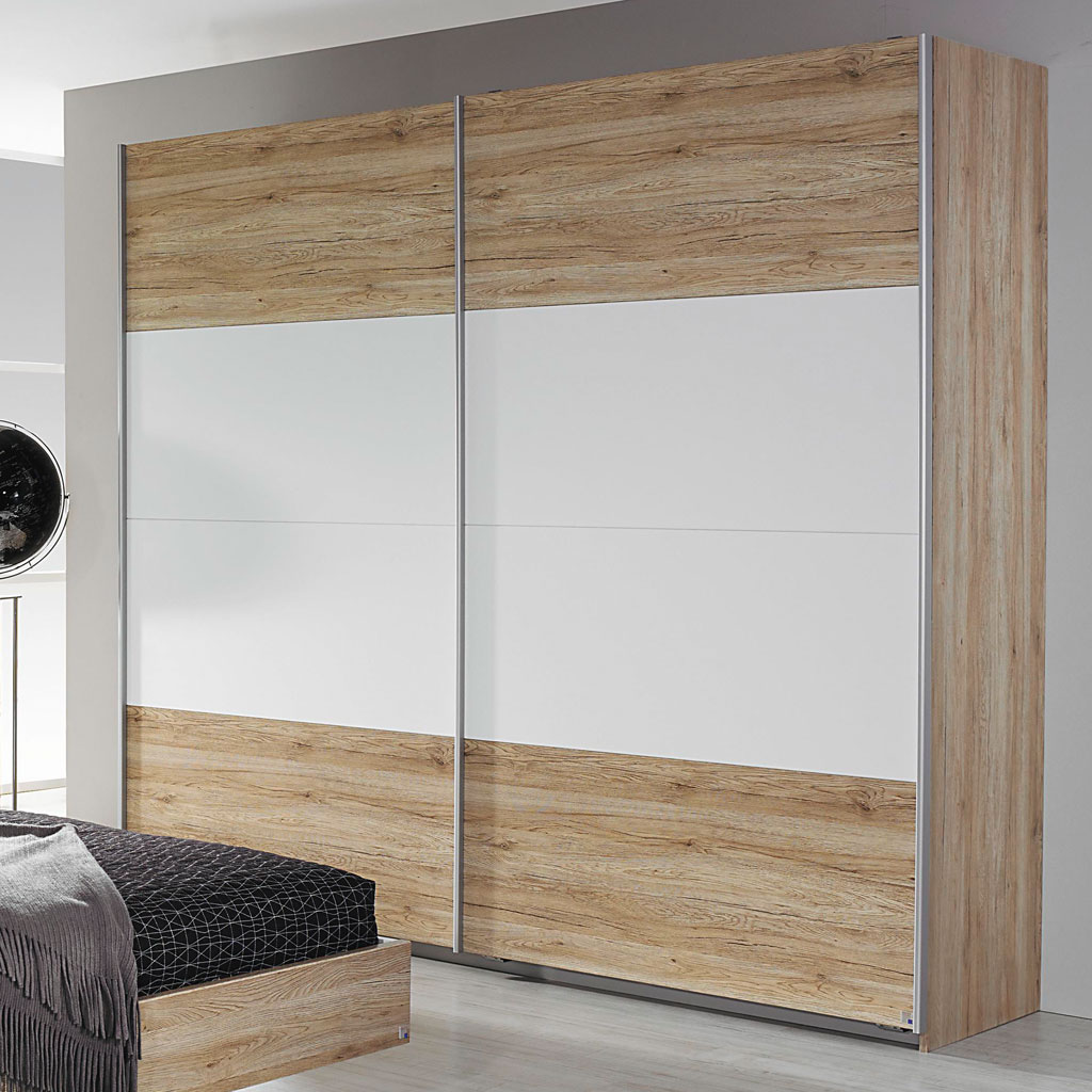 rauch bustas schwebet renschrank 181 cm eiche sanremo wei. Black Bedroom Furniture Sets. Home Design Ideas