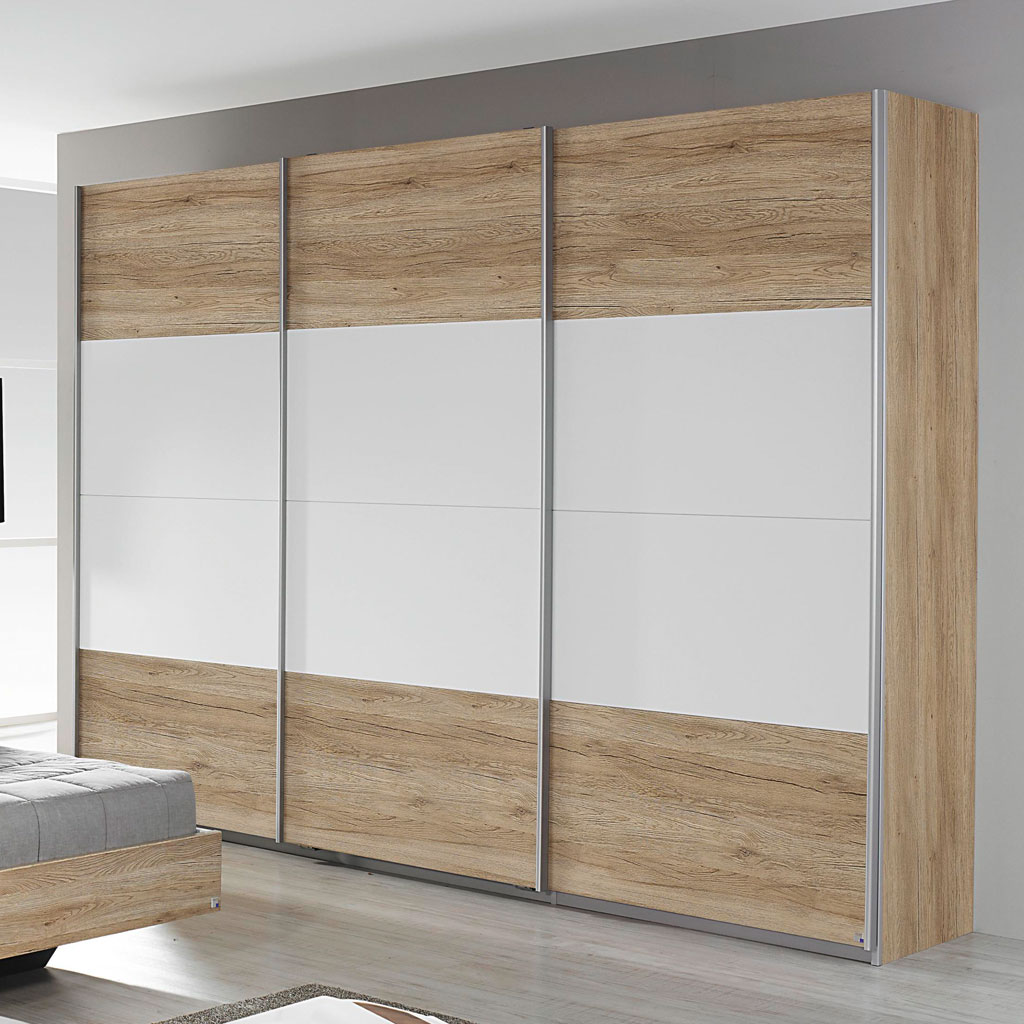 rauch bustas schwebet renschrank 271 cm eiche sanremo wei. Black Bedroom Furniture Sets. Home Design Ideas