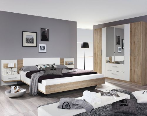 rauch bustas schlafzimmer eiche sanremo hell alpinwei. Black Bedroom Furniture Sets. Home Design Ideas