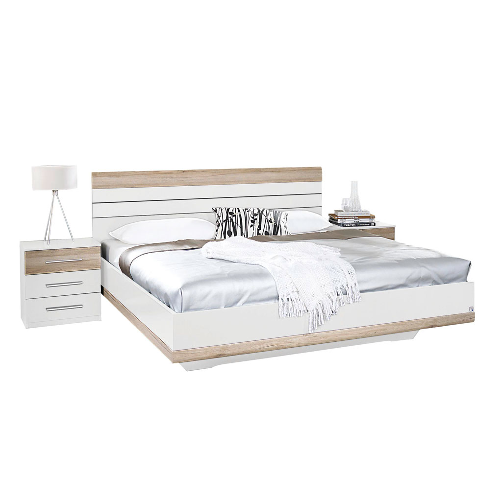 rauch tarragona schlafzimmer alpinwei eiche sanremo hell. Black Bedroom Furniture Sets. Home Design Ideas