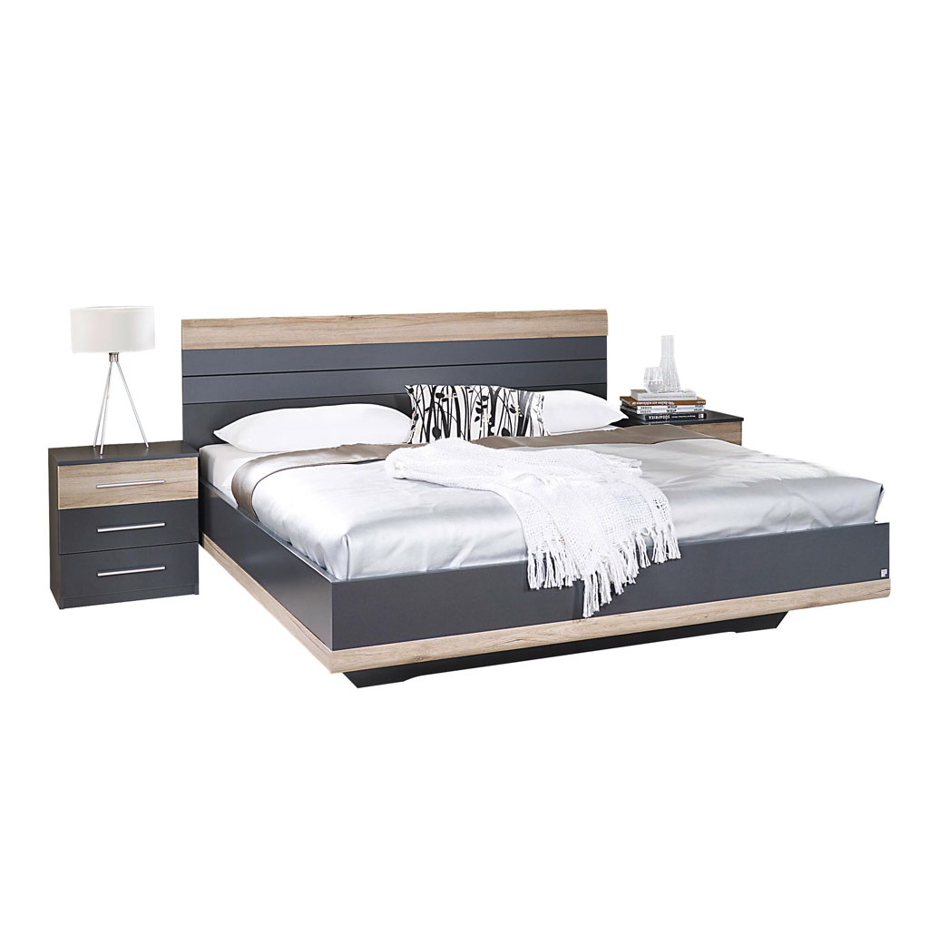 rauch tarragona schlafzimmer grau metallic eiche sanremo. Black Bedroom Furniture Sets. Home Design Ideas
