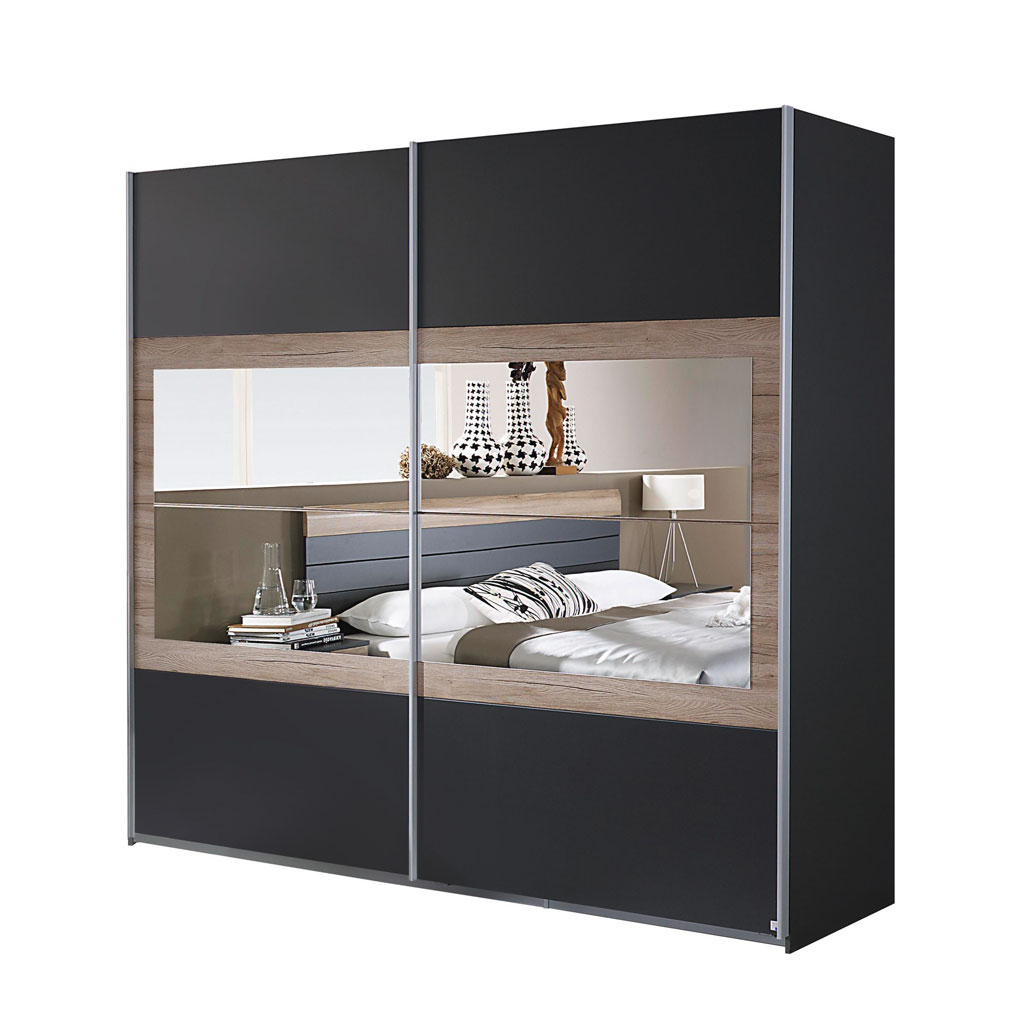 rauch tarragona schwebet renschrank grau eiche sanremo. Black Bedroom Furniture Sets. Home Design Ideas