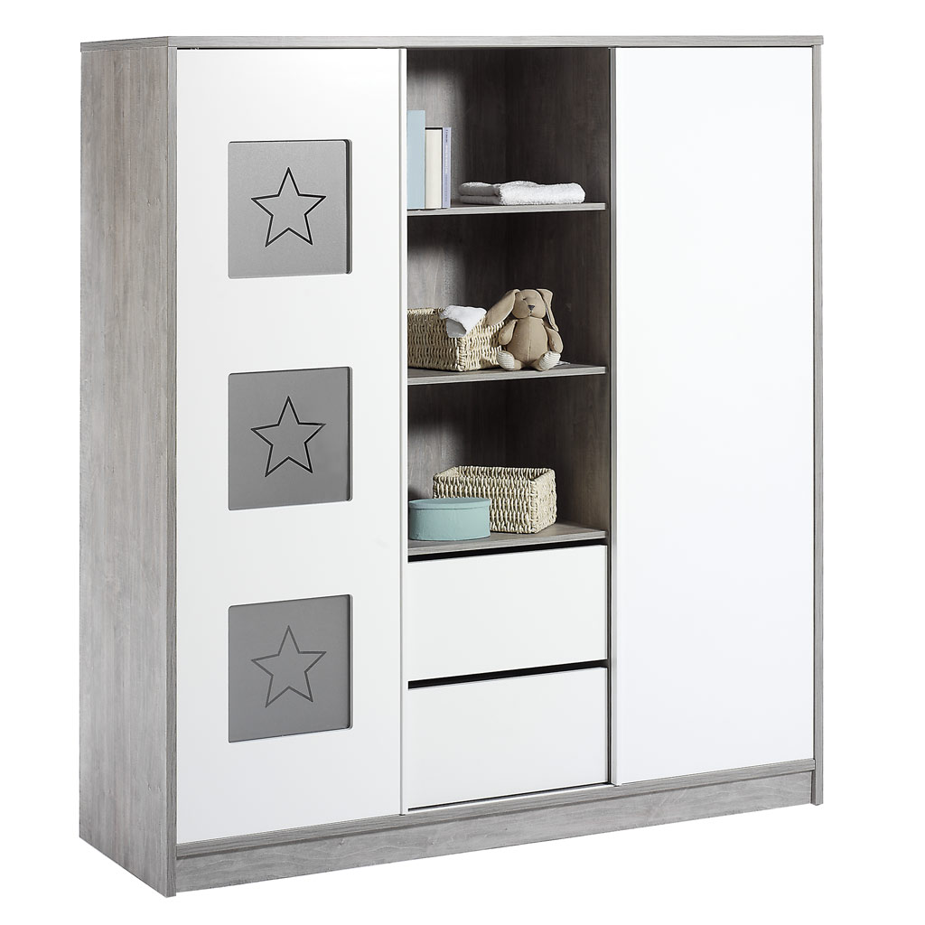 schardt eco star kleiderschrank 2 schiebet ren. Black Bedroom Furniture Sets. Home Design Ideas