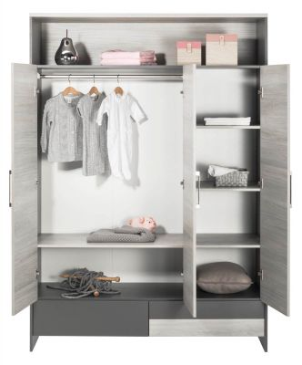 schardt clou kleiderschrank 3 t rig zum toppreis. Black Bedroom Furniture Sets. Home Design Ideas