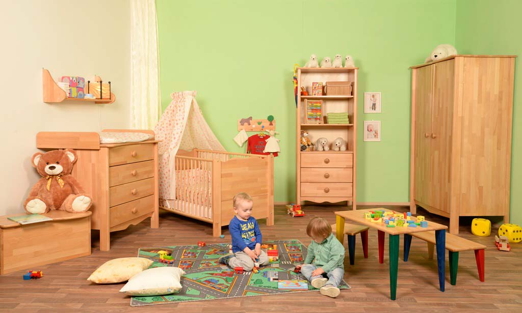 Category 2017 Taube Nostalgie Kinderzimmer Buche Lackiert
