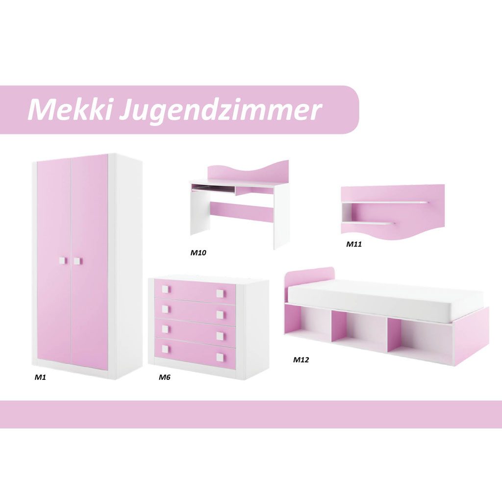ticaa mekki kinderzimmer 5 teilig rosa portofrei. Black Bedroom Furniture Sets. Home Design Ideas