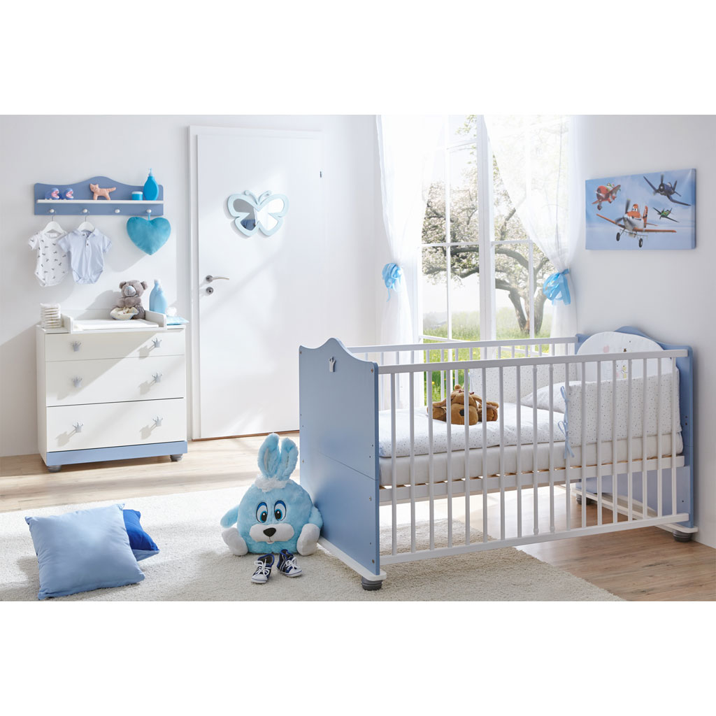 ticaa prinz babyzimmer wei blau 3 teilig versandkostenfrei. Black Bedroom Furniture Sets. Home Design Ideas