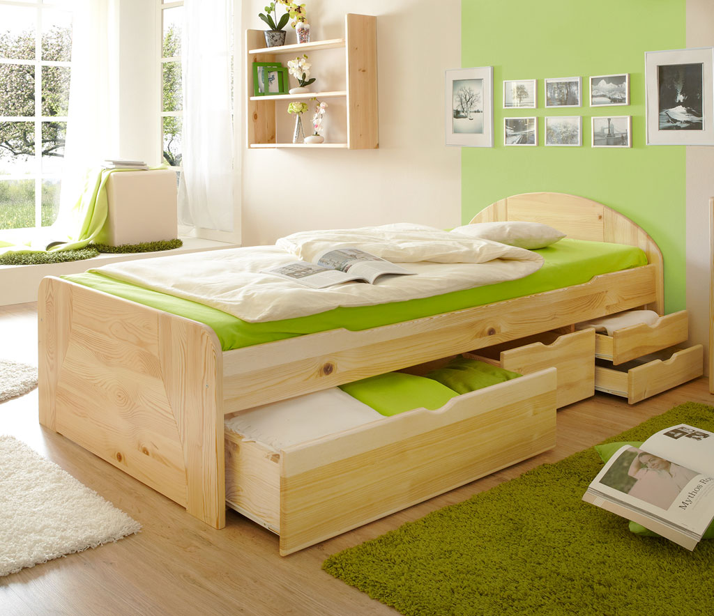 bett 100x200 wellem bel unlimited bett mit schubkasten jugendbett wei sandgrau 100x200 cm ebay. Black Bedroom Furniture Sets. Home Design Ideas
