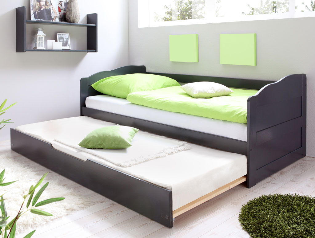 ticaa melinda sofabett kiefer grau versandkostenfrei. Black Bedroom Furniture Sets. Home Design Ideas