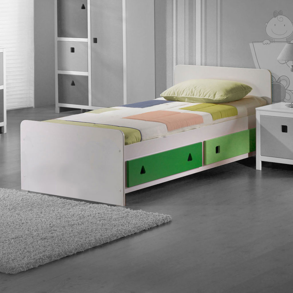 ticaa cubo kinderzimmer gr n wei online kaufen. Black Bedroom Furniture Sets. Home Design Ideas
