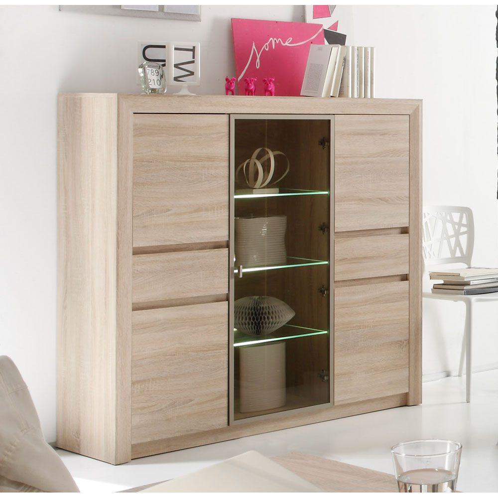 trendteam sevilla highboard versandkostenfrei. Black Bedroom Furniture Sets. Home Design Ideas