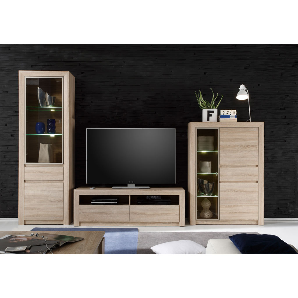 trendteam sevilla wohnwand versandkostenfrei. Black Bedroom Furniture Sets. Home Design Ideas