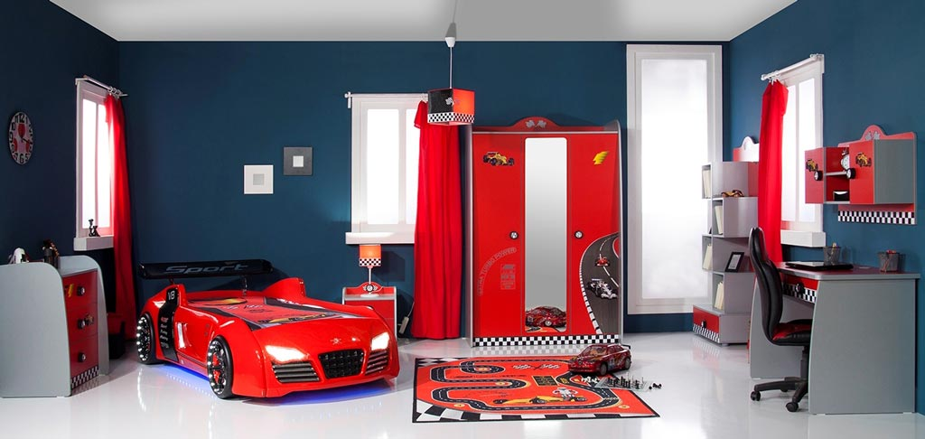 byMM Turbo V8 Red Kinderzimmer zum Aktionspreis