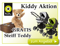 Kiddy Kinderwagen-Aktion Gratis Steiff Teddy