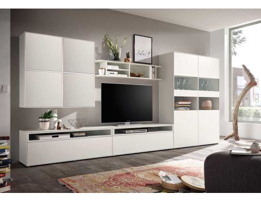 h lsta now easy wohnwand lack reinwei media 181x384x45 cm. Black Bedroom Furniture Sets. Home Design Ideas