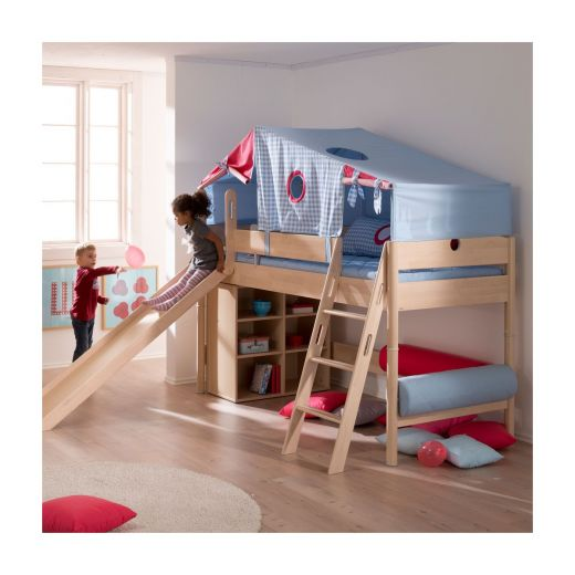 paidi fleximo spielbett 125 cm birke hell. Black Bedroom Furniture Sets. Home Design Ideas
