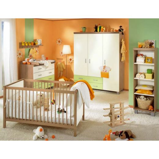 paidi leo kinderzimmer ecru gr n jetzt zum top preis kaufen. Black Bedroom Furniture Sets. Home Design Ideas