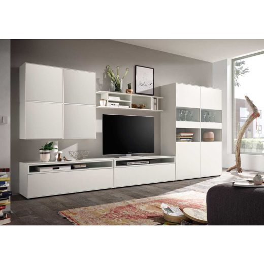 now by h lsta easy wohnwand lack reinwei media 181x384x45. Black Bedroom Furniture Sets. Home Design Ideas