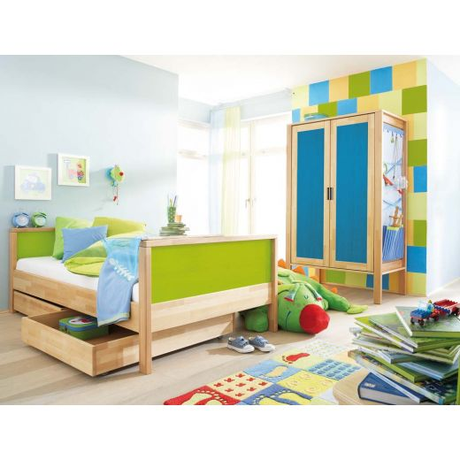 haba bunt kinderzimmer mit 2 t rigem schrank aktionspreis. Black Bedroom Furniture Sets. Home Design Ideas