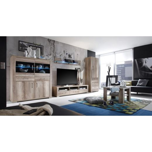 m usbacher matti wohnwand 3 in wildeiche tr ffel. Black Bedroom Furniture Sets. Home Design Ideas