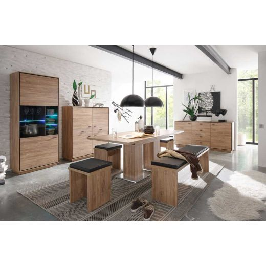 m usbacher salinas esszimmer 1 in stirling oak. Black Bedroom Furniture Sets. Home Design Ideas