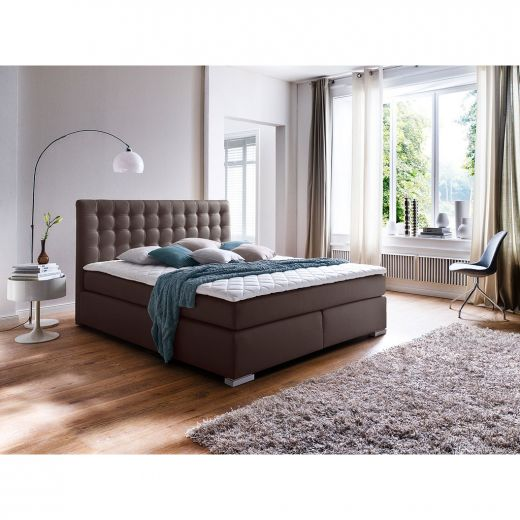 meise m bel isa boxspringbett braun 140 x 200 cm. Black Bedroom Furniture Sets. Home Design Ideas